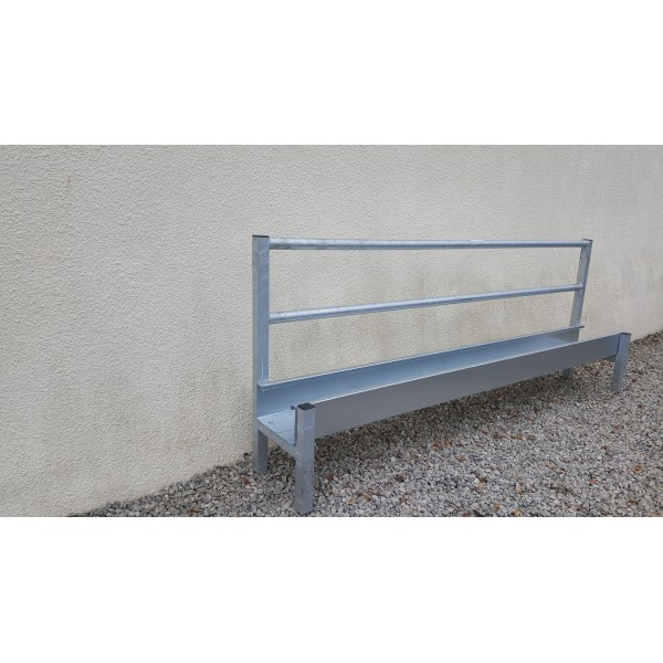 8ft single sided sheep feed trough/barrier